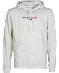 Tommy Hilfiger TJM LINEAR LOGO HOODIE - Gris