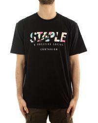 Staple Camiseta 2102C6485 - Negro