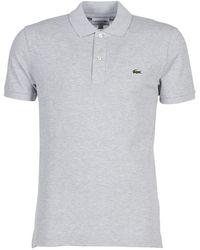 Lacoste Polo Shirt Korte Mouw Ph4012 Slim - Grijs