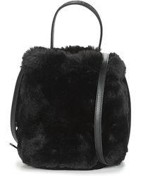 Karl Lagerfeld Handtas Karl Carine Fur Bucket - Zwart