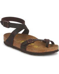 Birkenstock Sandalen Yara Premium - Bruin