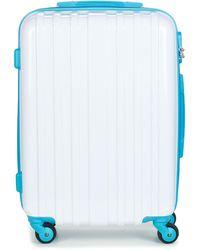 David Jones Bandrobas 53l Hard Suitcase - White