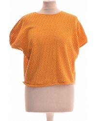 Suncoo Top Manches Courtes 36 - T1 - S Blouses - Orange