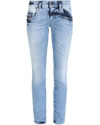 DIESEL GRUPEE-ANKLE Jeans - Bleu