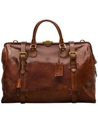 Maxwell Scott Bags The Gassano L - Tan Hard Suitcase - Brown