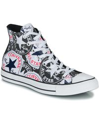 Converse Sneakers Chuck Taylor All Star Logo Play - Zwart