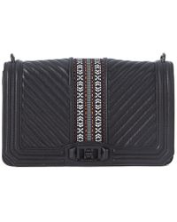 Rebecca Minkoff - Black Quilted Leather Shoulder Bag Men's Shoulder Bag In Black - Lyst