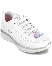 Skechers Nette Schoenen Synergy 2.0 Sneakers Para Mujeres - Wit
