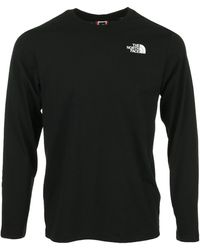 The North Face Red Box LS Tee T-shirt - Noir