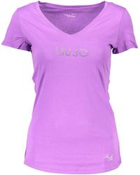Liu Jo WXX015 JB231 femmes T-shirt en violet