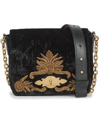 cddad52851d6 Polo Ralph Lauren - Velvet W Bullion Chain Crossbody Women s Shoulder Bag  In Black - Lyst