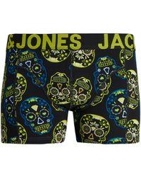 Jack & Jones Jack Jones Boxer 12171602 JACCOLORFULL SKULL TRUNKS STS BLAZING YELLOW - Amarillo