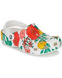Crocs™ CLASSIC PRINTED FLORAL CLOG Sabots - Blanc