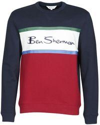 Ben Sherman Sweaters Colour Blocked Logo Sweat - Zwart