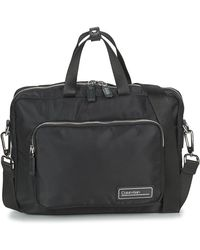 Calvin Klein Aktetas Primary 1 Gusset Laptop Bag - Zwart