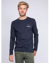 Ritchie T-shirt manches longues col rond JOSTRA T-shirt - Bleu