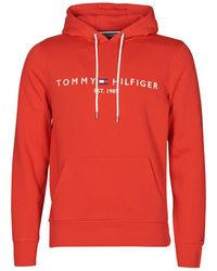 Tommy Hilfiger Sweater Tommy Logo Hoody - Rood