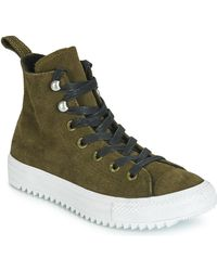 Converse Hoge Sneakers Chuck Taylor All Star Hiker Boot Final Frontier Suede Hi - Groen