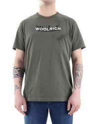 Woolrich Camiseta WOTE0048 - Verde