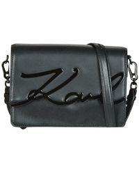 Karl Lagerfeld Schoudertas K/signature Shoulderbag - Zwart