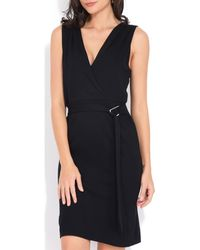 Yours Paris - Sleeveless Fitted Dress Women's Dress In Black - Lyst