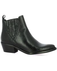 So Send - Boots Boots cuir iguane - Lyst
