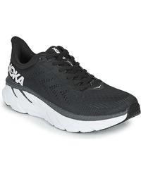 Hoka One One Lage Sneakers Clifton 7 - Zwart