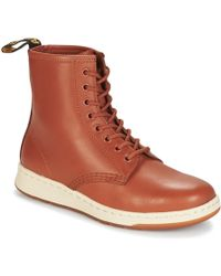 Dr. Martens | Newton Men's Mid Boots In Brown | Lyst