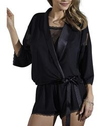 Lisca Pyjama's / Nachthemden Blossom Bolero Jack - Zwart