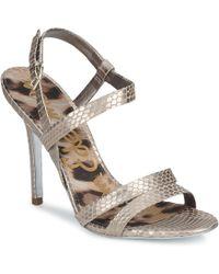 Sam Edelman - Abbott Women's Sandals In Silver - Lyst