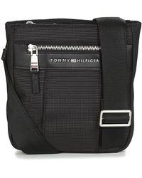 Tommy Hilfiger Handtasje Elevated Nylon Mini Crossover - Zwart