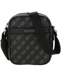 Guess CITY LOGO MINI DOC CASE Sacoche - Noir