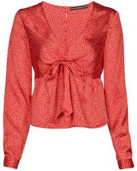 Guess NEW LS GWEN TOP Blouses - Rouge
