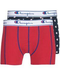 Champion Mix Uni + Imprime X2 Boxer Shorts - Black
