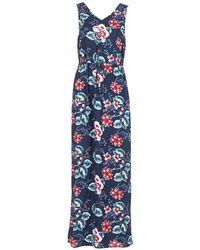 Vero Moda - Vmsimply Women's Long Dress In Blue - Lyst