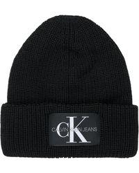 Calvin Klein MONOGRAM BEANIE WL Bonnet - Noir