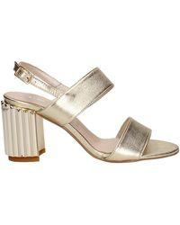 La Via Del Mare VM18050 sandales Femme Platine Sandales - Gris
