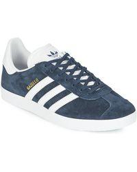 adidas Originals Zapatillas gazelle de ante - Azul