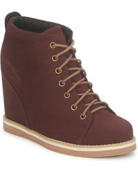 No Name - Wish Desert Boots Women's Low Boots In Red - Lyst