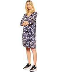 Mkt Studio Robe courte en voile fleuri RAMEXI femmes Robe en bleu