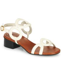 See By Chloé Sandalen Met Ronde Band - Wit