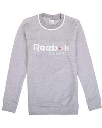 Shirt Sweat En Iconic Crew Femmes Gris 5R3AL4jq