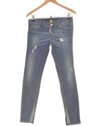 DSquared² Jean Slim Femme 38 - T2 - M Jeans - Bleu
