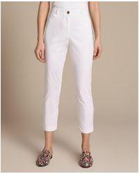 Woman El Corte Inglés 02E7806 Pantalon - Blanc