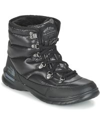 The North Face Snowboots Thermoball Lace Ii W - Zwart