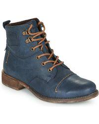 Josef Seibel Boots SIENNA 17 - Bleu
