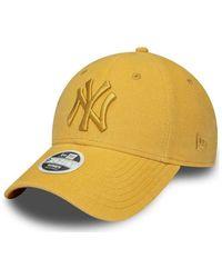 KTZ Casquette Casquette Femme New York Yankees Pastel Corduroy - Jaune