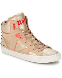 Ash - Spirit Women's Shoes (high-top Trainers) In Beige - Lyst