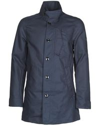 G-Star RAW Trenchcoat Scutar Half Lined Trench - Blauw