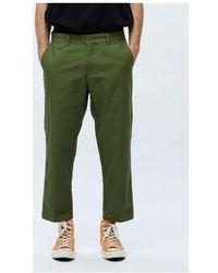 Obey Broeken / Pantalons Straggler Carpenter Pant Iii - Groen